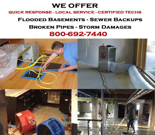Evansville, Wisconsin water damage restoration service